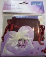 10 x Burgundy Wedding Favour Organza Bags. 100mm x 75mm.